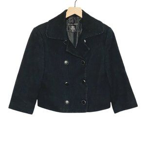 NY & Co Black Cropped Double Breasted Jacket